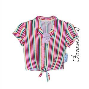 NWT FOREVER 21 girls pink multi size 9/10